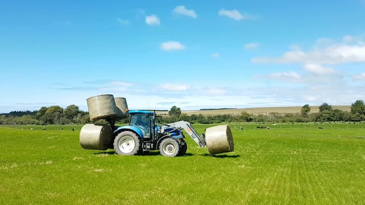 Hay Hauler transporting bales