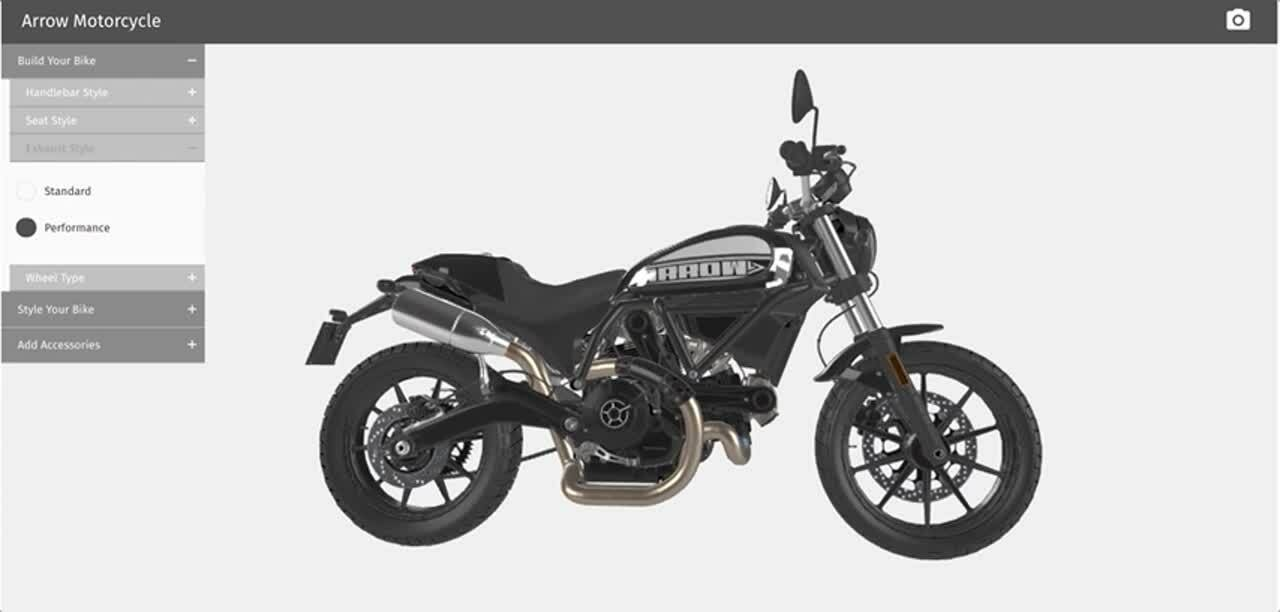 Motorcycle 3D Configurator