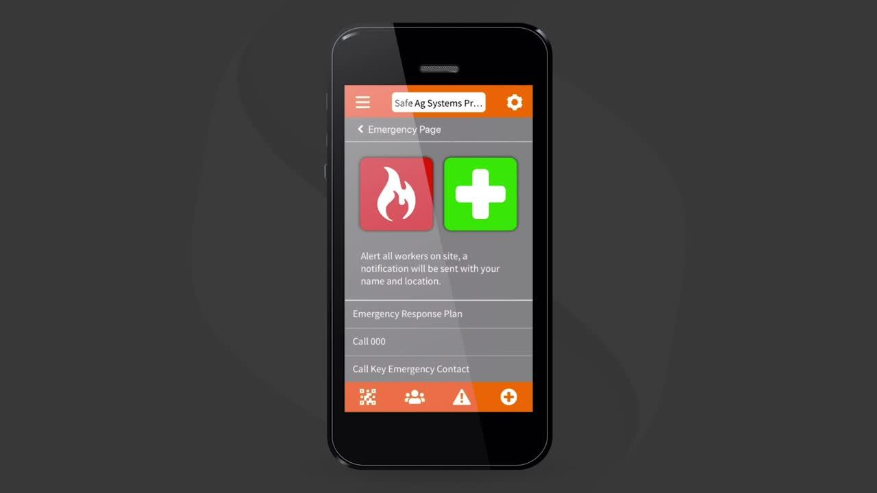 Accessing Emergency information on the mobile app
