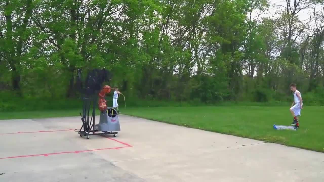 Dr. Dish Basketball Shooting Machine Take Down Process - Outdoor Use