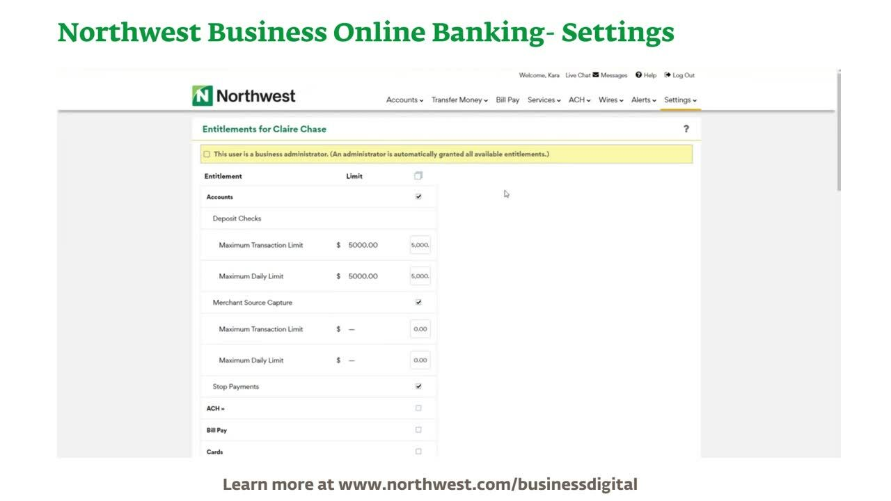 Business Online Banking- Settings Demo Final