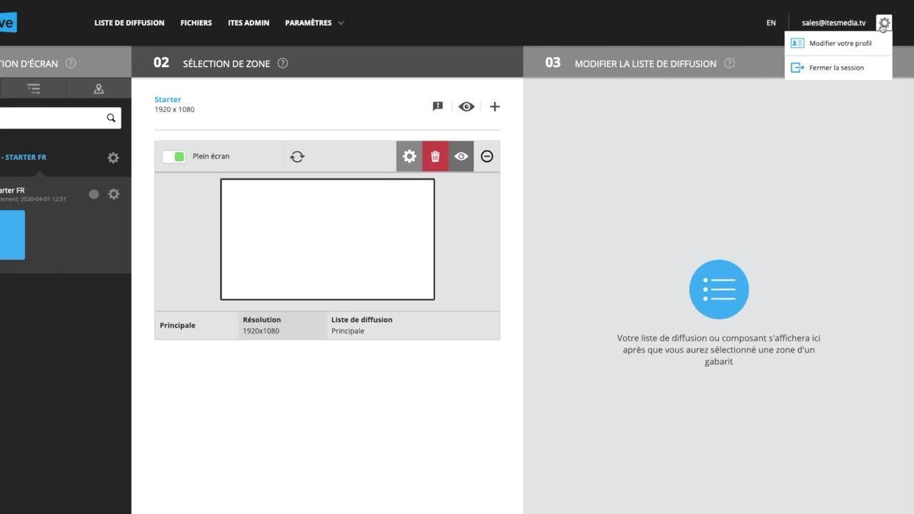 Tutoriel ITESLIVE - Modifier votre profil