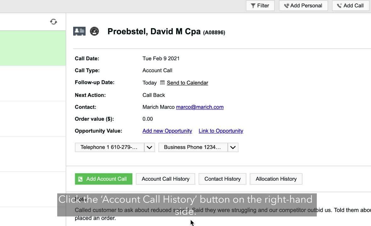 06 - Preparing for your call – Sales Data - 3 before calling your customer - desktop