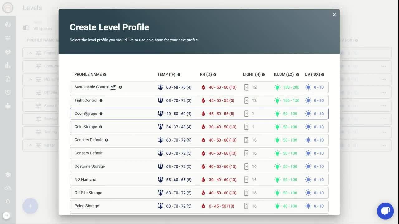 Create Level Profile