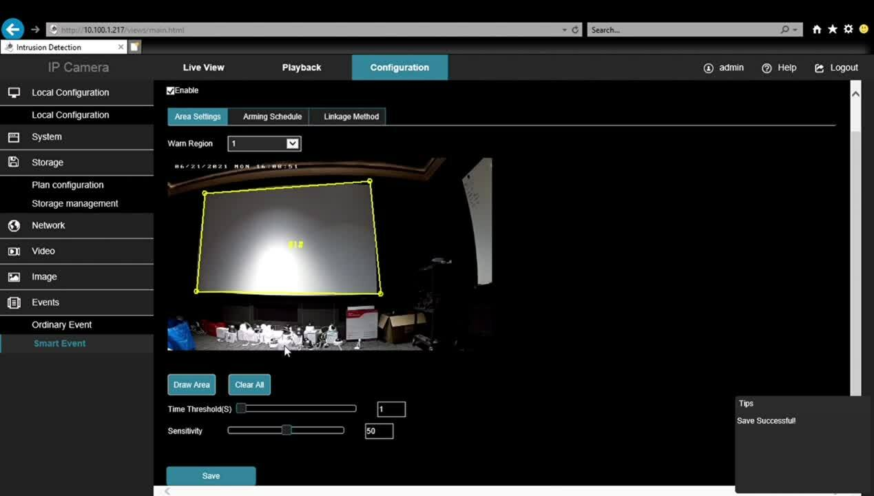 How to set up smart events in ClareVision cameras