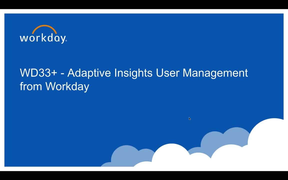 User Management from Workday - What's New 2019.3