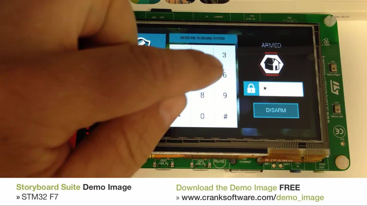 STM32F7 Downloadable Demo Image | Crank Software