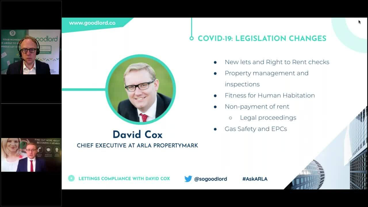 WEBINAR- Lettings compliance with David Cox