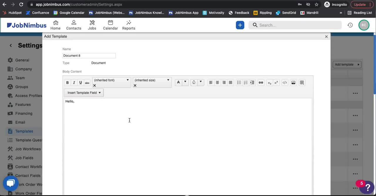 Templates - How to create a Document Template