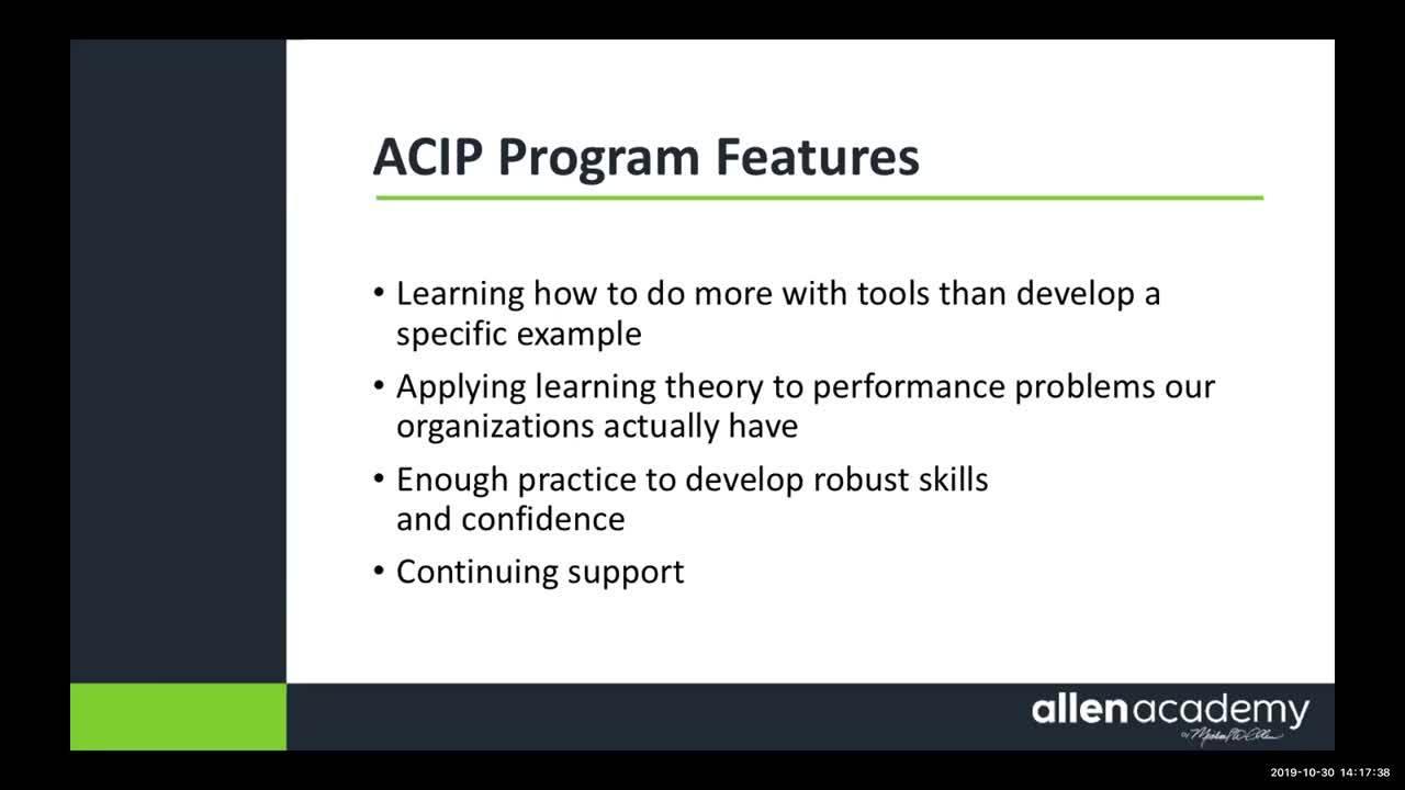Allen Academy Overview 103019
