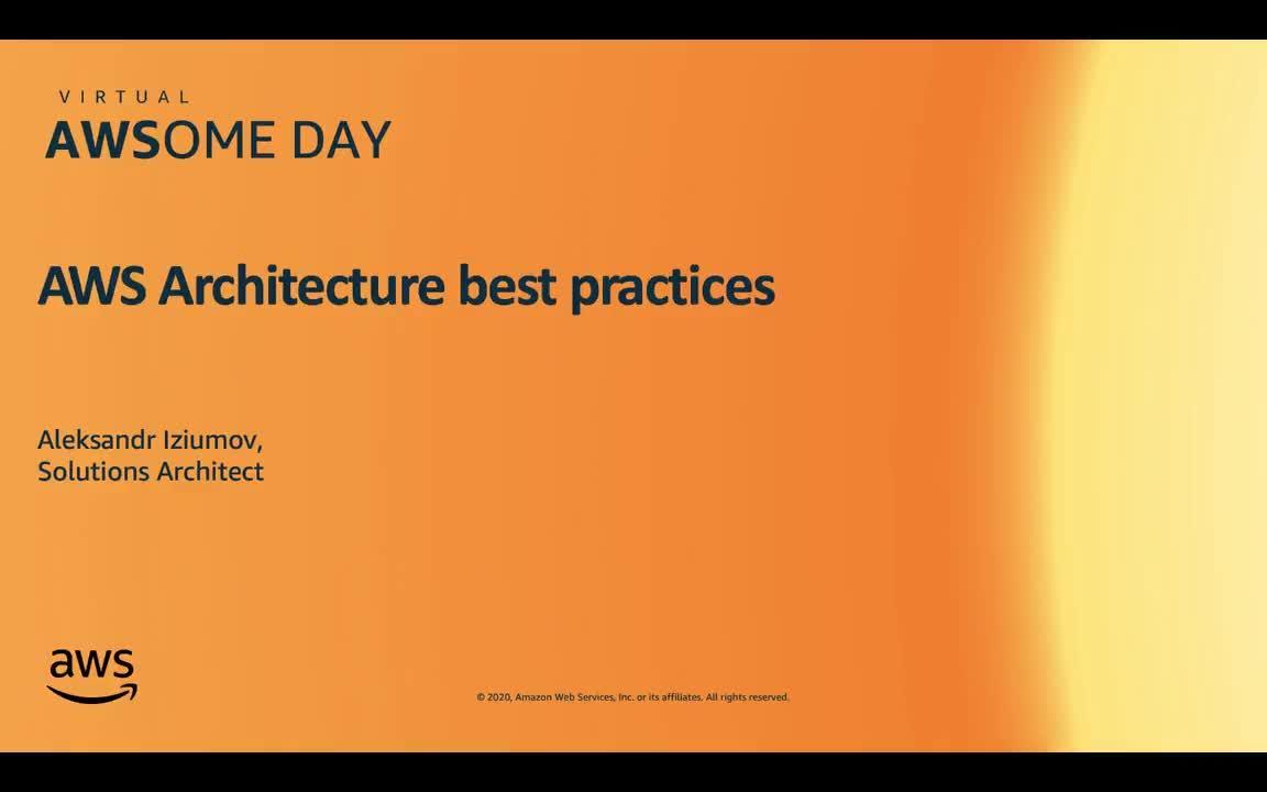 22.04.2020 | Отказоустойчивые архитектуры приложений на AWS