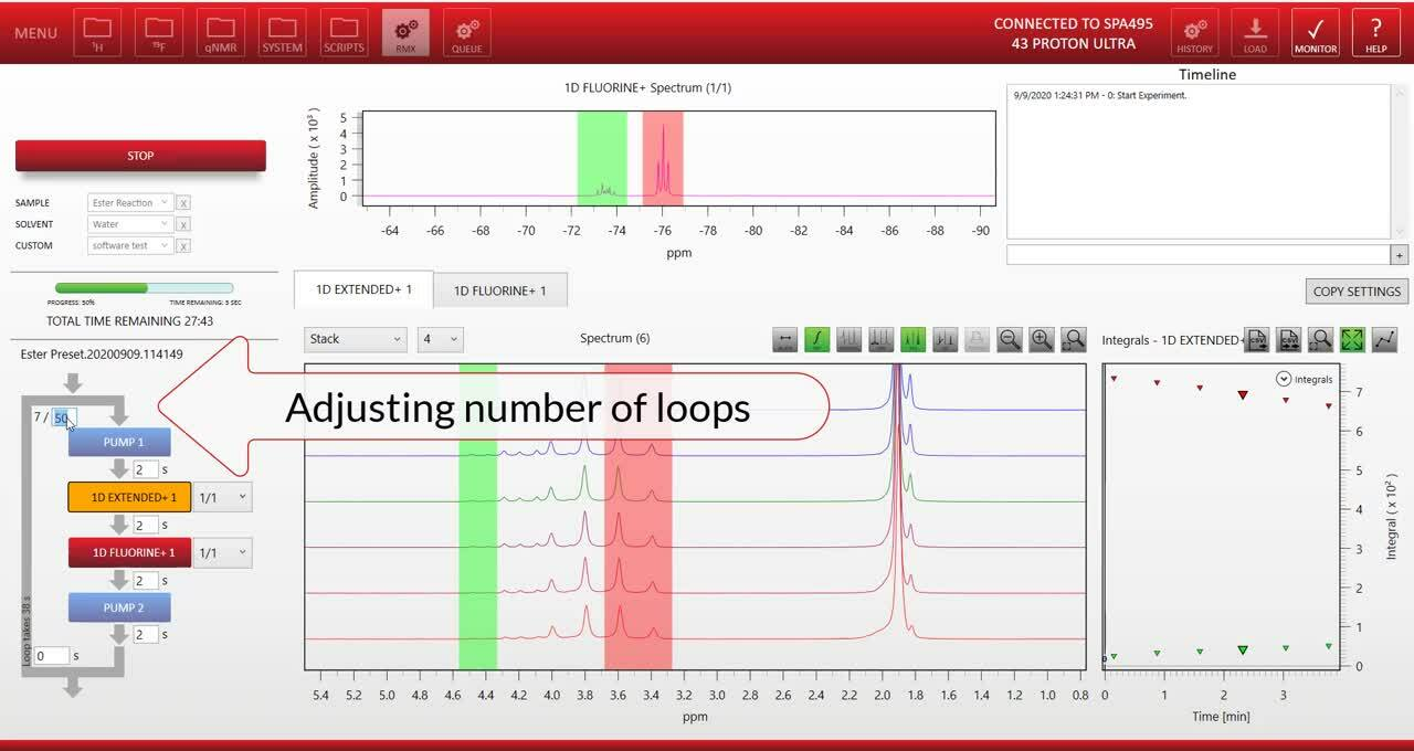Reaction Monitoring Software demo