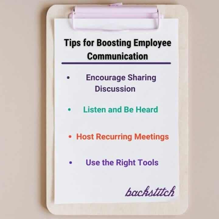 Tips to Boost Employee Comms Graphic