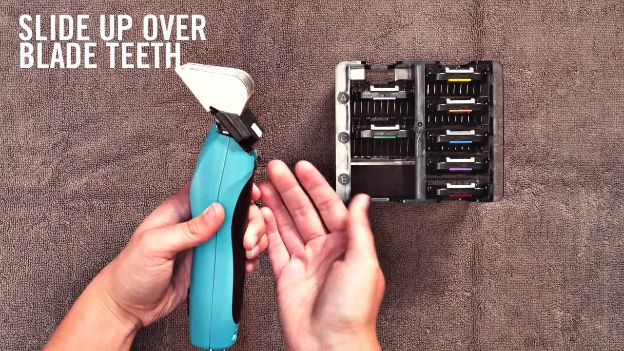 WAHL How to Use Wahl Stainless Steel Combs with Wahl Detachable Blades