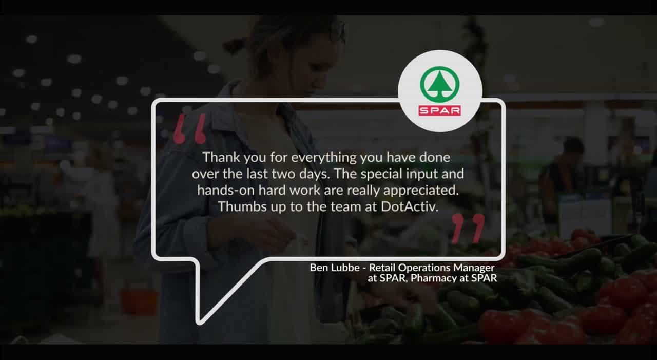 DotActiv Spar Testimonial