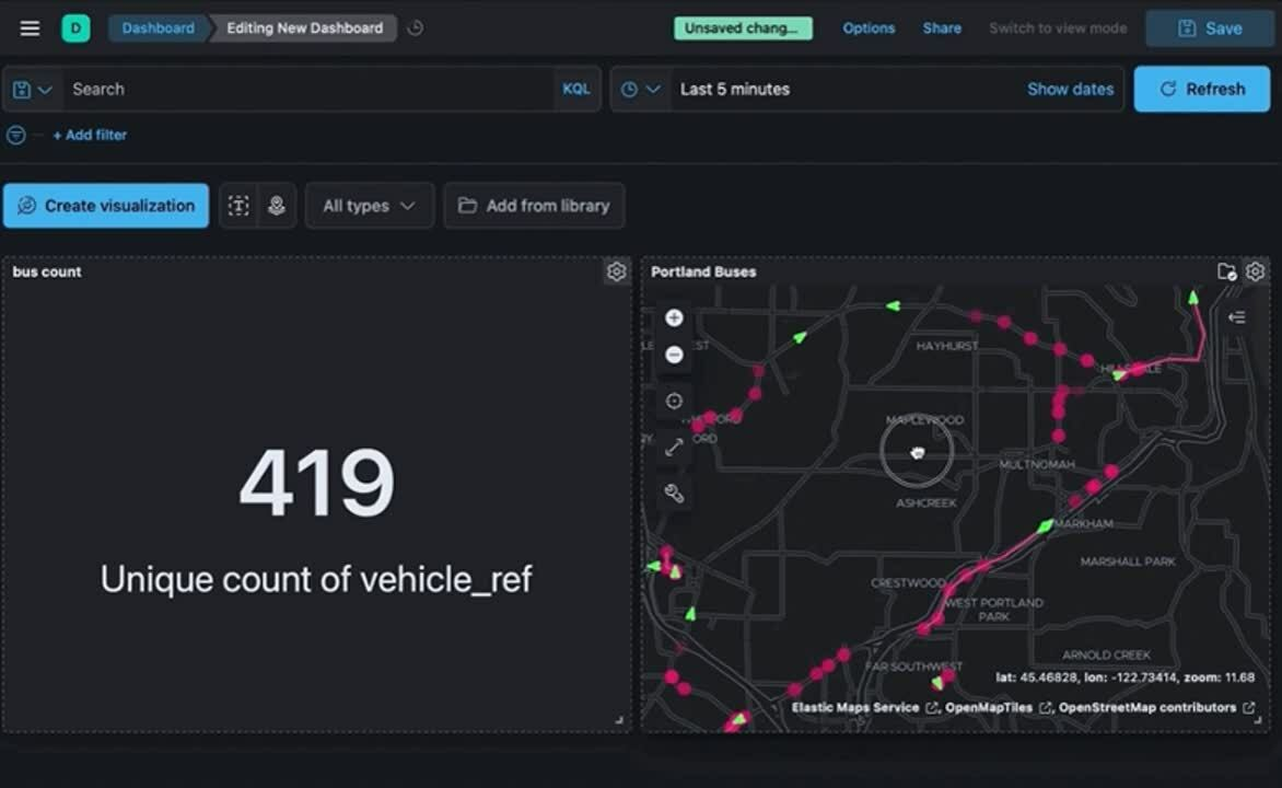 Filter your dashboard data using Maps