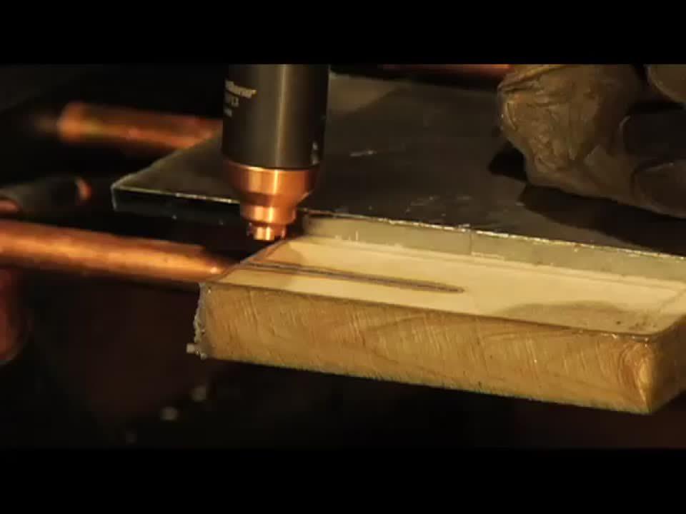 Powermax45 handheld cutting 19mm stainless