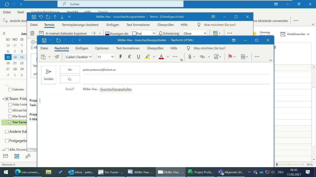 3 E-Mail an Projektleiter
