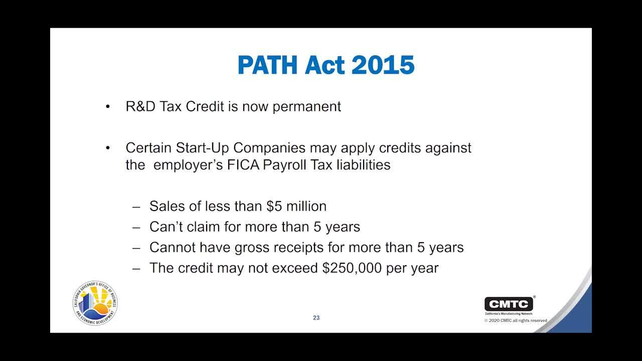 11052020 How to Save Money by Leveraging Tax Credits & Workforce Training Funding