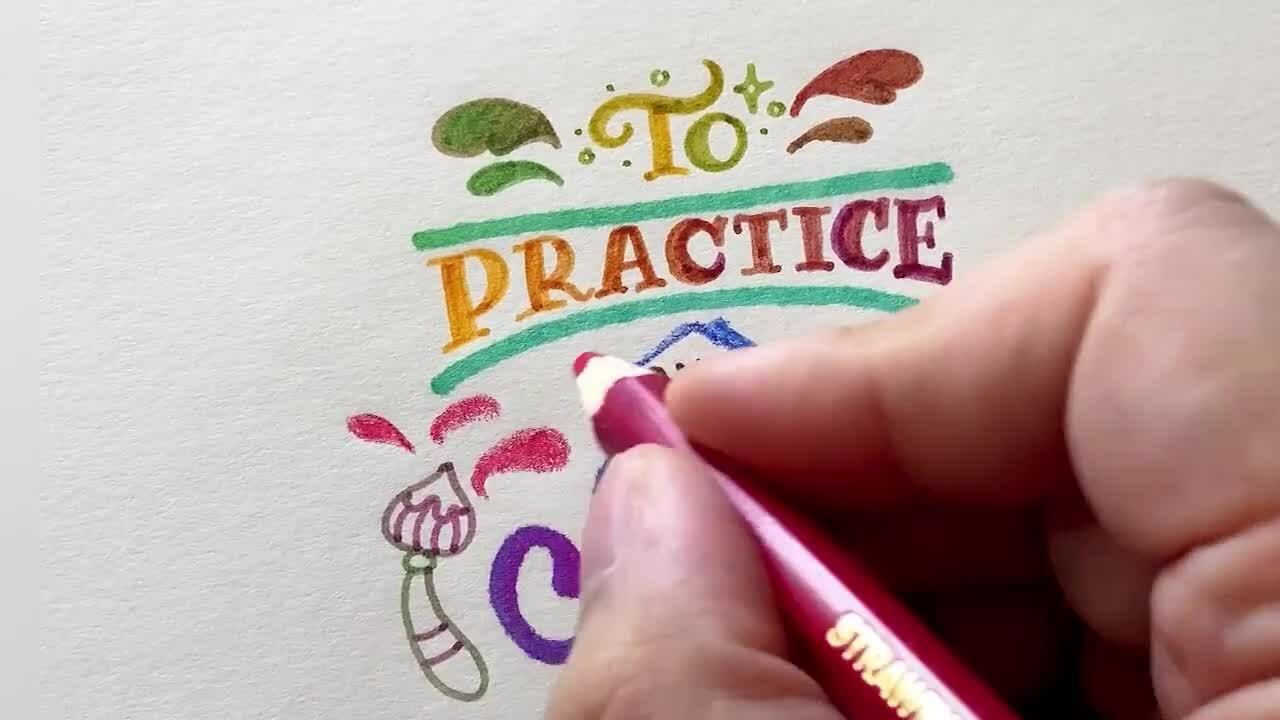 Quote calligraphy writing artist color blending pens Chameleon Fineliners colored Pencils Color Tops