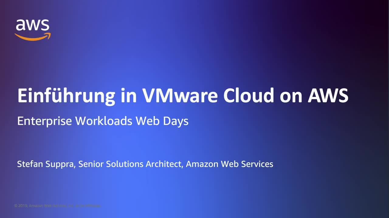 Einführung in VMware Cloud on AWS