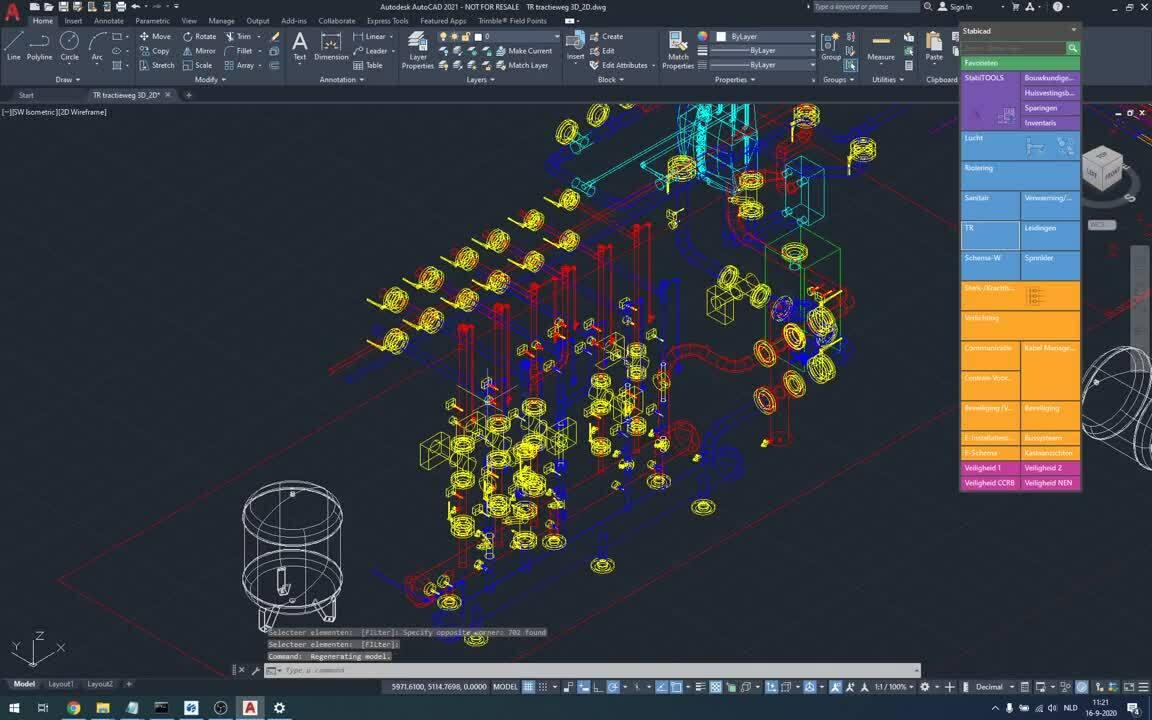 Stabicad for AutoCAD - Uittekenen van complexe installaties