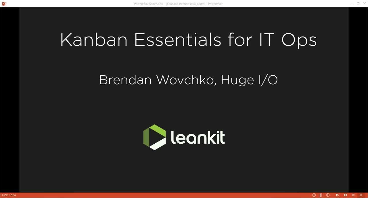 Video: Kanban Essentials for IT Ops - A Webinar by Brendan Wovchko