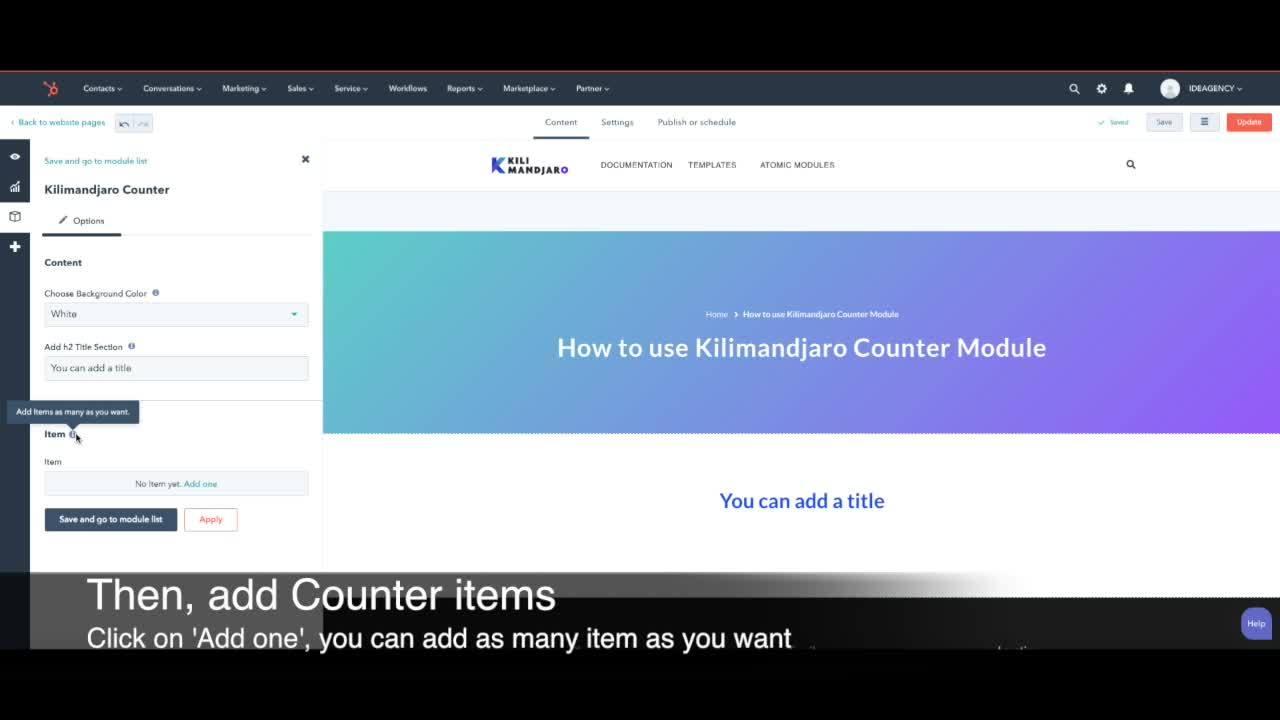 Kilimandjaro Counter Module