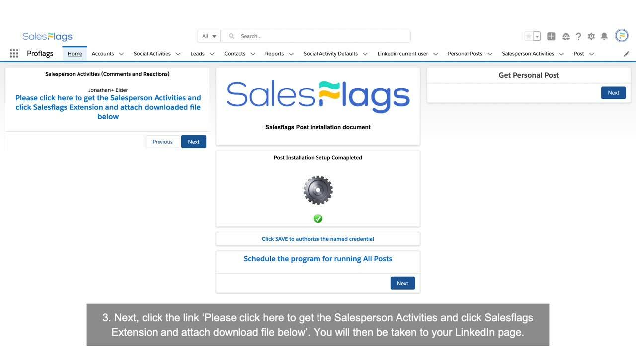 Salesflags - Salespersons Activities