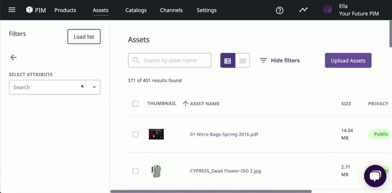 asset detail smart list