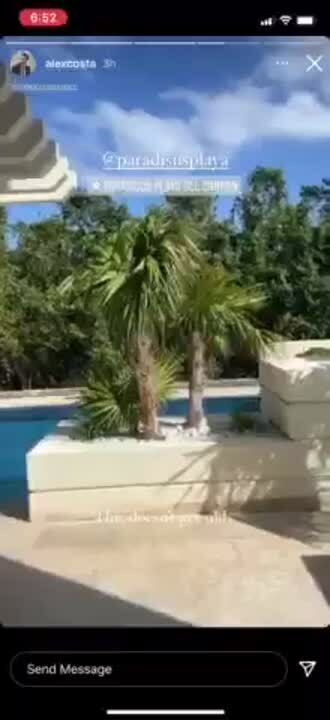 Alex- Opening door to the pool saying this doest get old