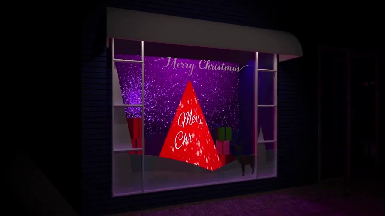 Bicester Village - Store Front Christmas Tree - Visualisation