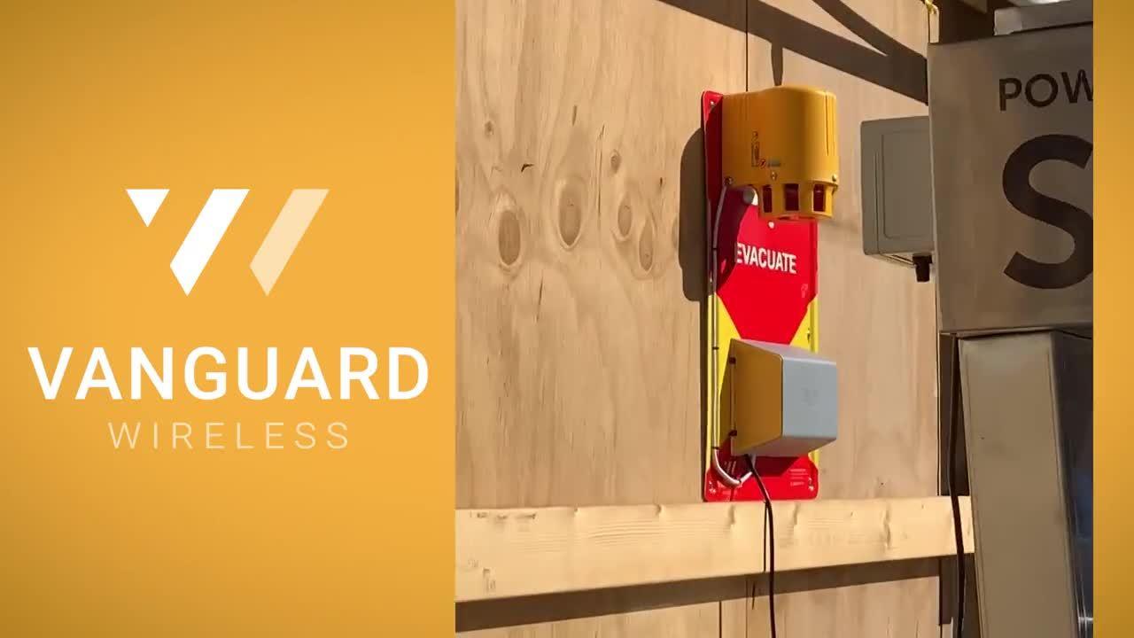 Vanguard Wireless Evac + Nurse Call devices on construction site