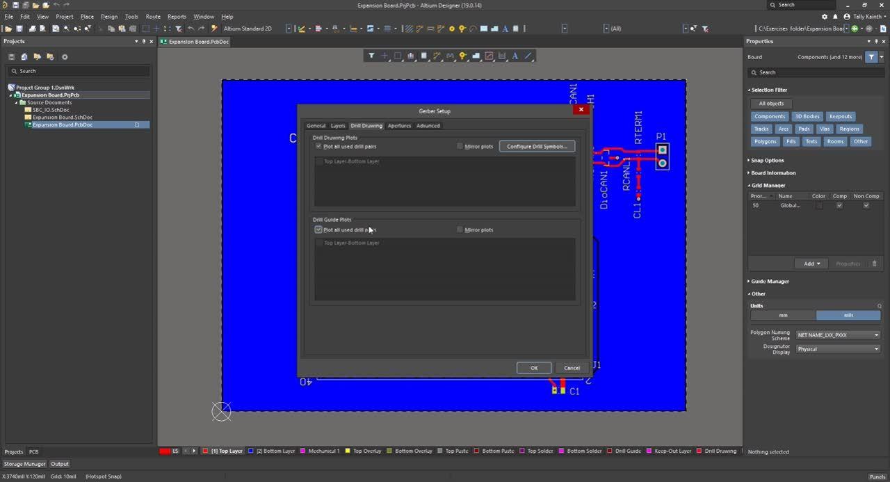 (9) Generating Fabrication Files - Altium Designer 19