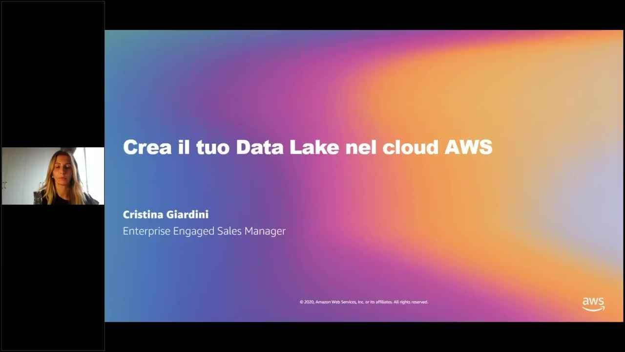 Virtual Event AWS Crea il tuo Data Lake nel cloud AWS