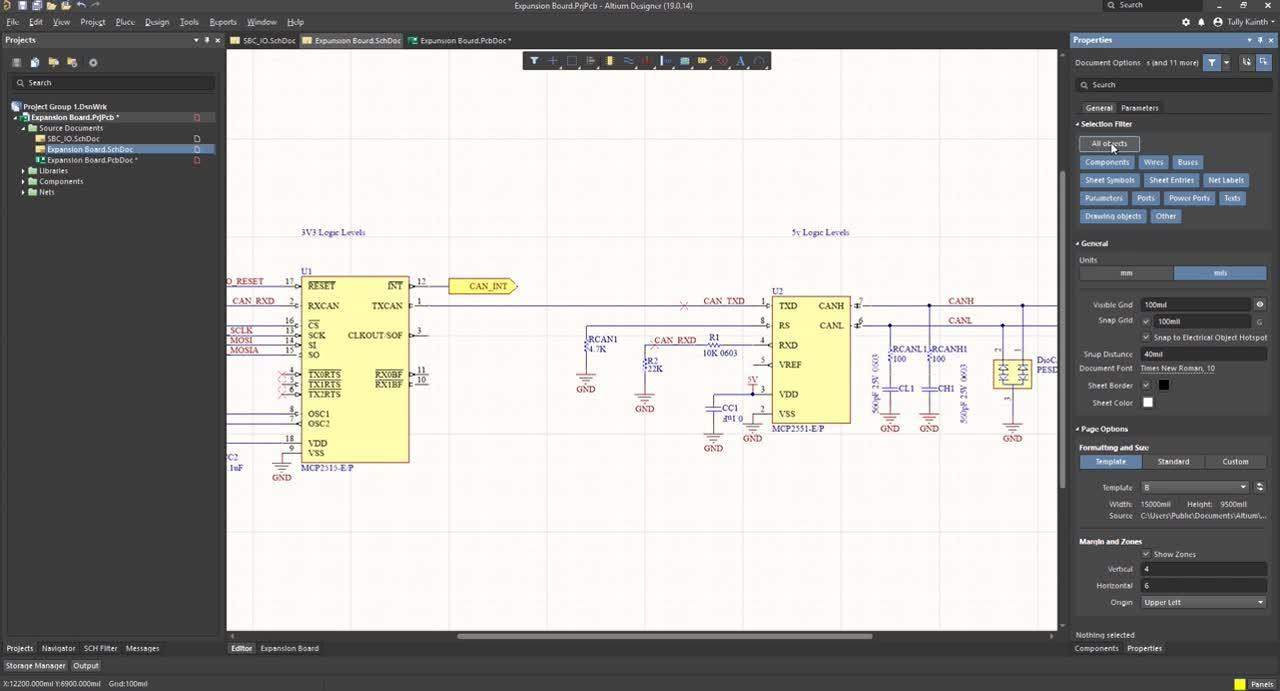(6) Placing Components on the PCB - Altium Designer 19