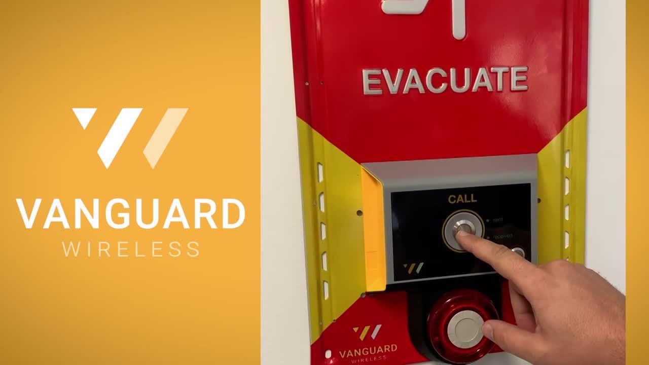 Vanguard Wireless  compact evacuation trigger + siren test