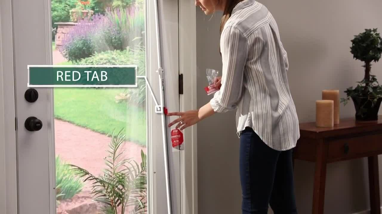 About the Red Tab and Red Screw on ODL Add On Blinds for Doors Units-1