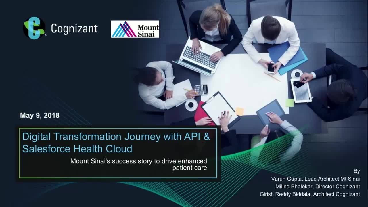 CONNECT 2018: Mount Sinai's enhanced patient care digital transformation journey leveraging MuleSoft