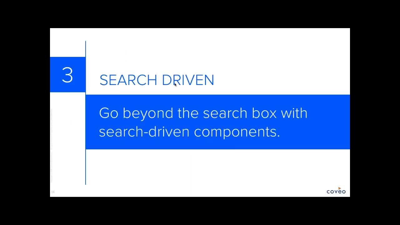 Great site search lets you start a dialogue with each visitor and create more personal and relevant experiences that engage and convert. Watch the webinar and learn how to create high-impact search-based experiences for each visitor based upon their unique activity and profile.