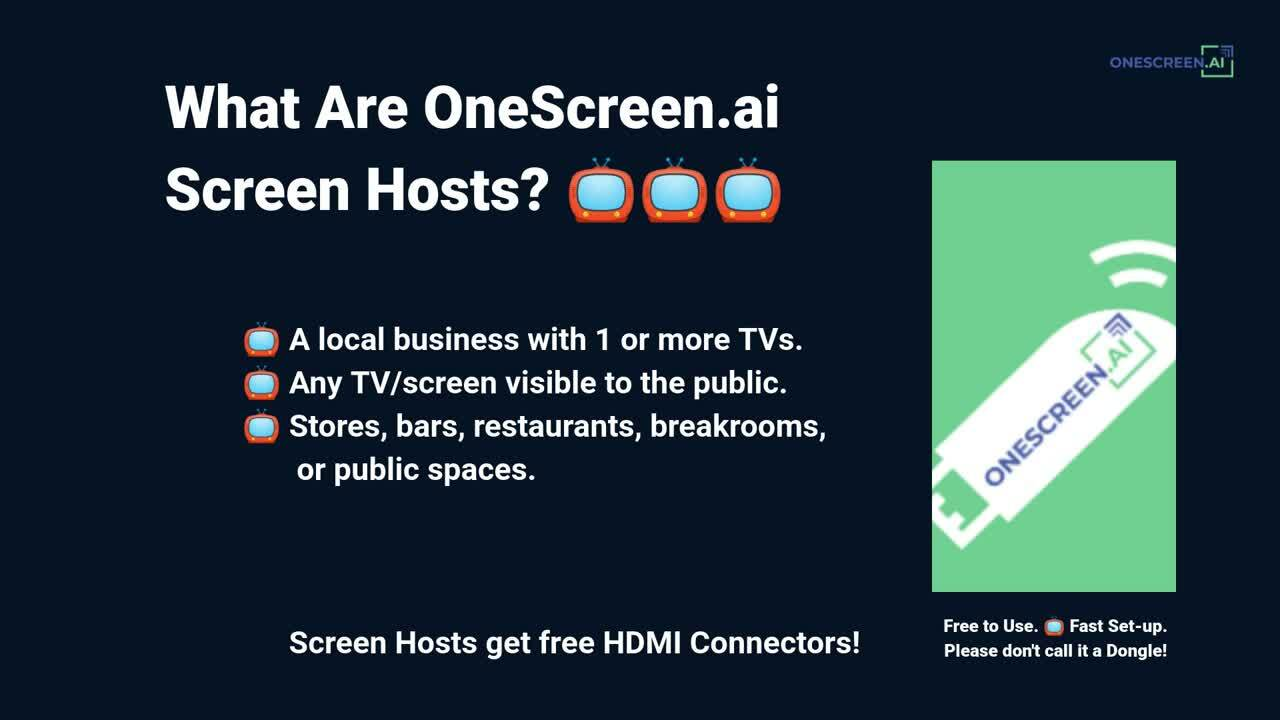 What is a OneScreen.ai Screen host