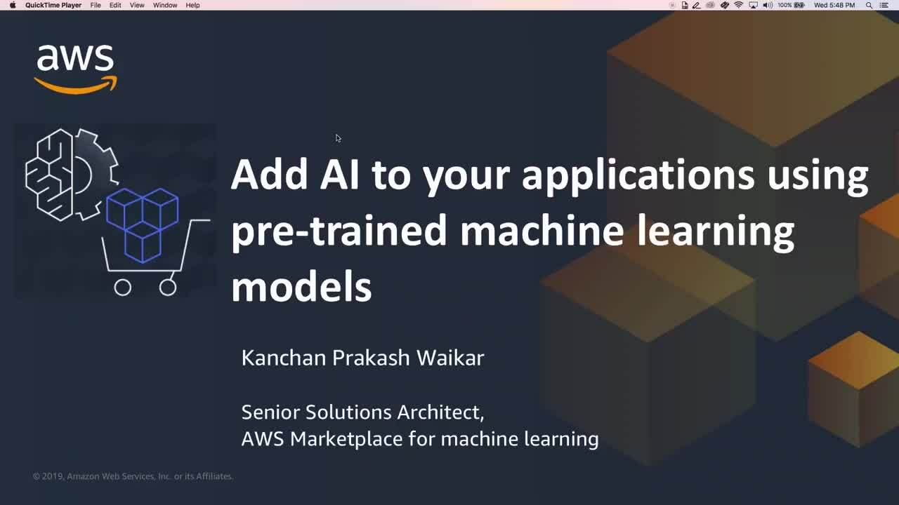 Accelerate Machine Learning Projects with Hundreds of Algorithms in AWS Marketplace