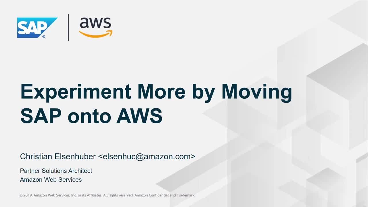 SAP Move – Testen Sie mehr, indem Sie SAP auf AWS betreiben