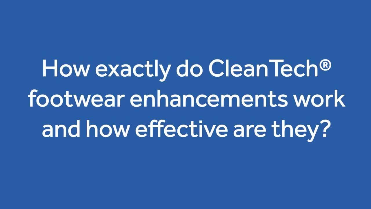 12 Seconds to Clean_ CleanTech® Footwear Enhancements for Simultaneous Hand & Footwear Sanitation
