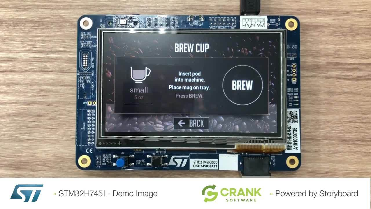 STM32H745I Demo Video Storyboard Coffee App2