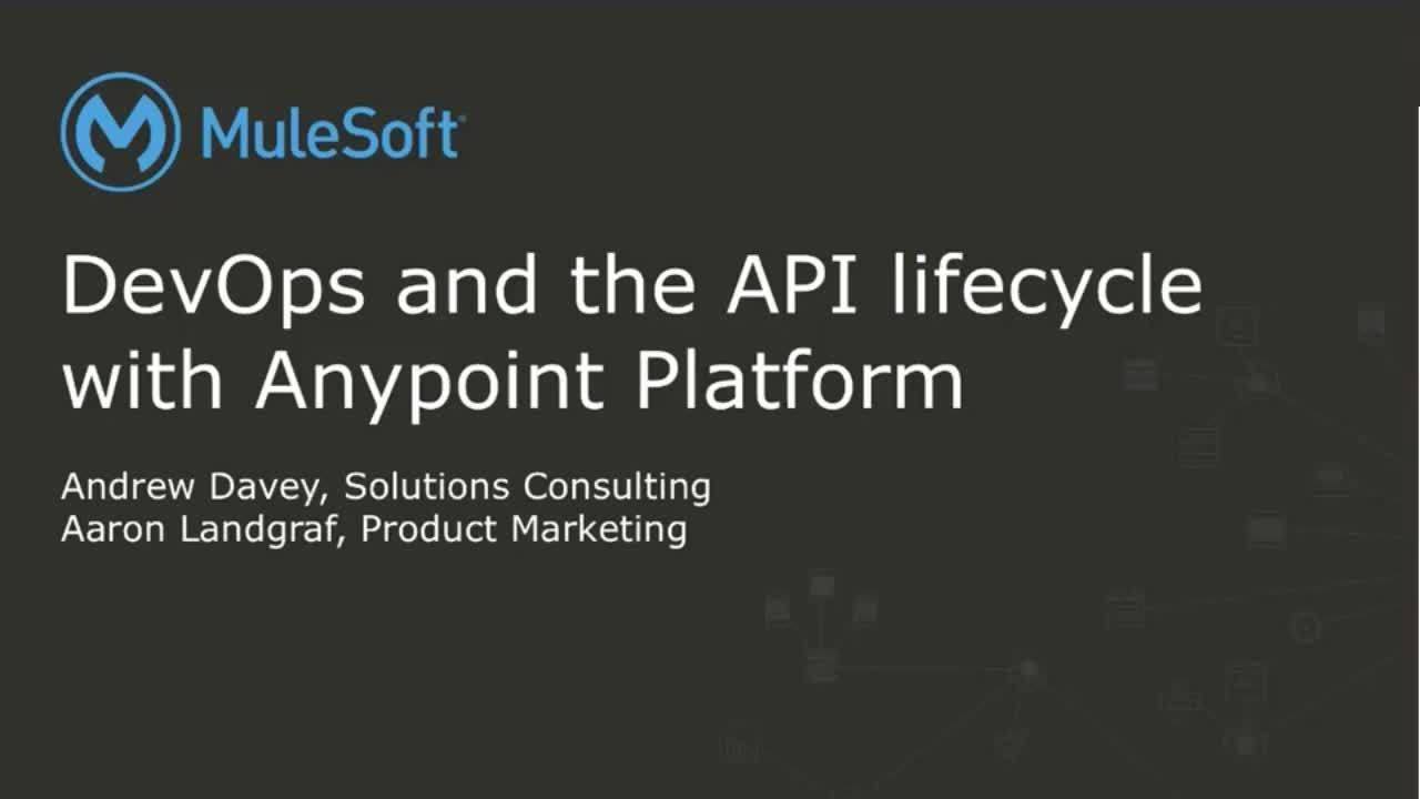 Webinar: DevOps and the API Lifecycle