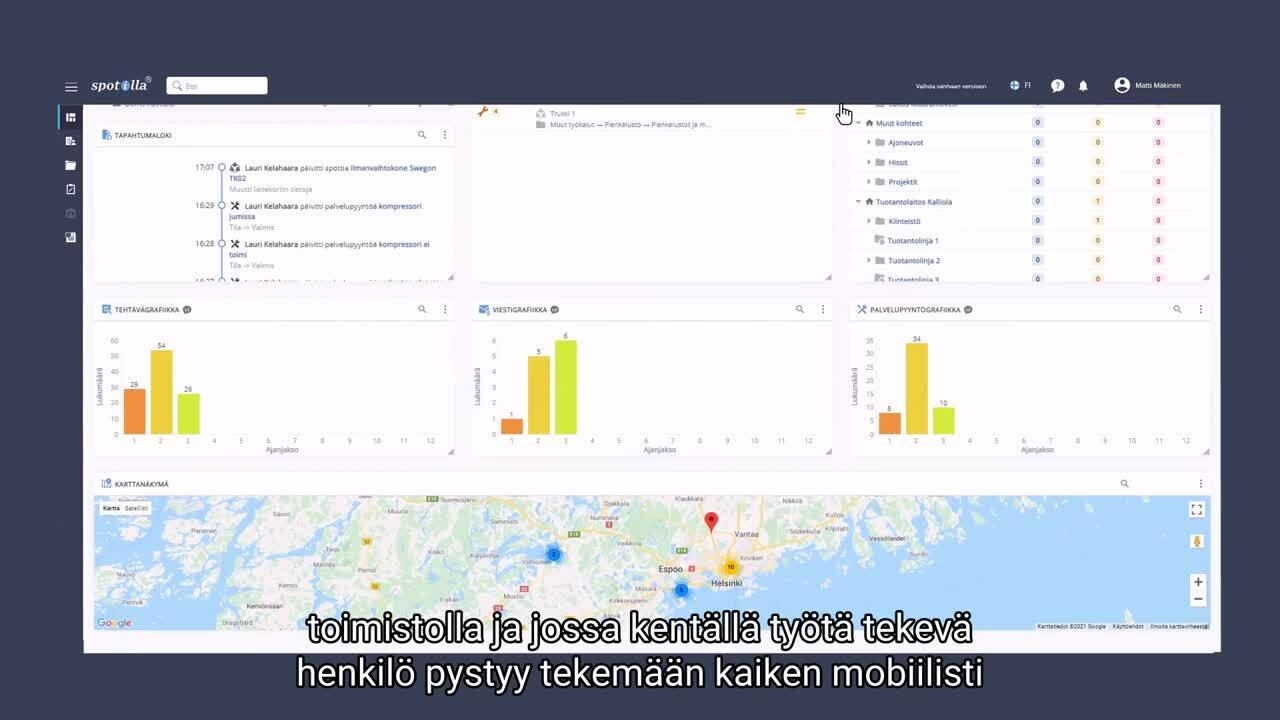 Spotilla käyttöliittymä - Video 5 - Kenttätyön tehostaminen