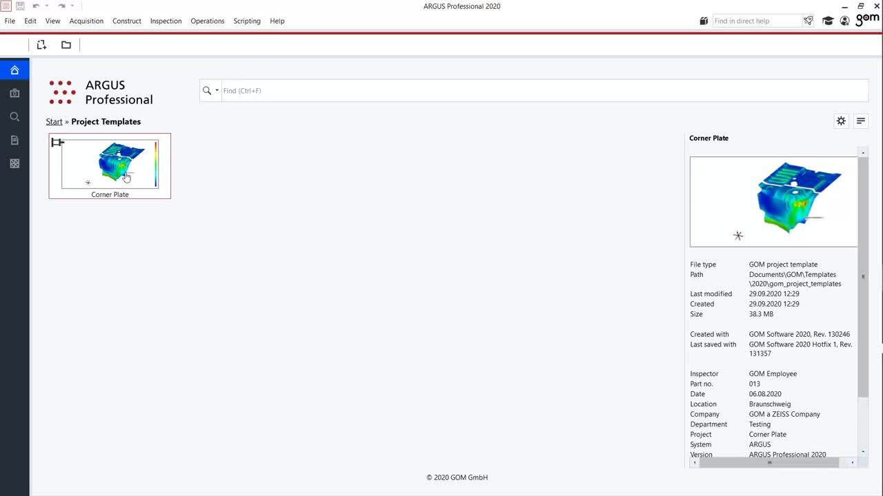 gom_parametric-project-template