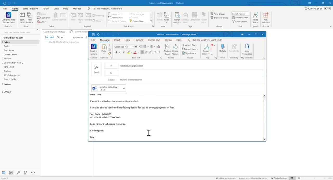 Microsoft Outlook Secure Send - recipient a member of your trusted community