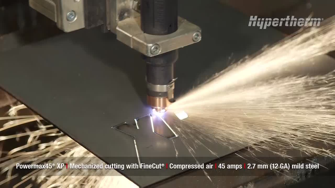 Powermax45 XP mechanized cutting with FineCut - 2.7mm mild steel